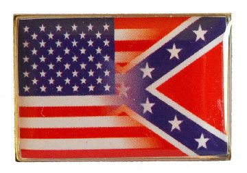 Large Confederate & Union Flag Blended Badge
